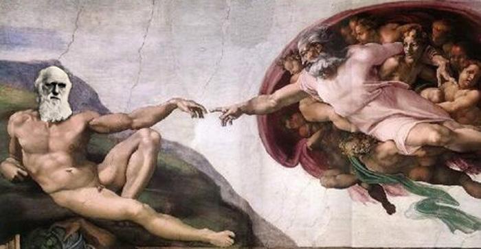 Darwin vs Gud? Nja, kanske inte riktigt så här då ...